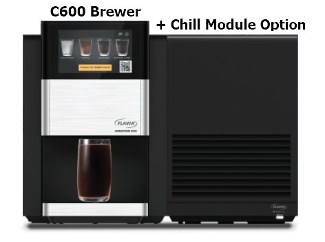 Flavia C600 brewer with chill module labelled