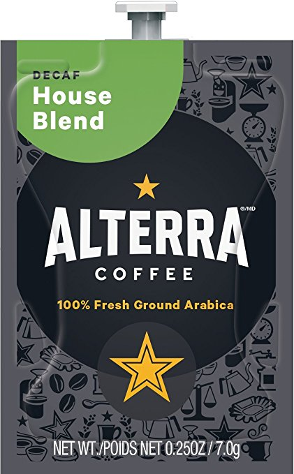 Alterra Coffees for Flavia Creation Drinks Station by Mars – Coffee lovers paradise of variety, easy use, & no coffee mess!  Experience all the benefits of coffee without the hassles with our full selection of Alterra Coffees filterpacks. - DECAF - House Blend - A187