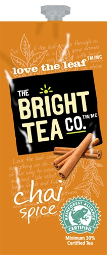 Teas by The Bright Tea Co!  We have all the Flavia brewer tea filterpack options with same day shipping and huge discounts every day.  The Flavia Drink Station is sure to satisfy the coffee & tea snobs you love! - Chai Spice Tea - B501