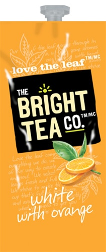 Bright Teas or Tazo Teas!  We have all the Flavia brewer tea filterpack options with same day shipping and huge discounts every day.  The Mars Drink Station is sure to satisfy the coffee & tea snobs you love! - White with Orange Tea - B504