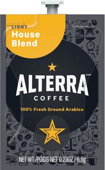 Alterra Coffees for Flavia Creation Drinks Station by Mars  €  Coffee lovers paradise of variety, easy use, & no coffee mess!  Experience all the benefits of coffee without the hassles with our full selection of Alterra Coffees filterpacks. - House Blend - A181