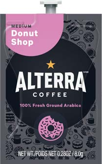 Alterra Coffees for Flavia Creation Drinks Station by Mars – Coffee lovers paradise of variety, easy use, & no coffee mess!  Experience all the benefits of coffee without the hassles with our full selection of Alterra Coffees filterpacks. - Donut Shop Blend - A200