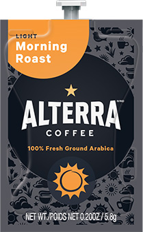 Alterra Coffees for Flavia Creation Drinks Station by Mars – Coffee lovers paradise of variety, easy use, & no coffee mess!  Experience all the benefits of coffee without the hassles with our full selection of Alterra Coffees filterpacks. - Morning Roast - A182