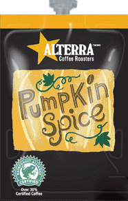 Alterra Coffees for Flavia Creation Drinks Station by Mars – Coffee lovers paradise of variety, easy use, & no coffee mess!  Experience all the benefits of coffee without the hassles with our full selection of Alterra Coffees filterpacks. - Pumpkin Spice coffee - A300