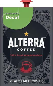 The Barista Espresso / Coffee Brewer is professional grade at it's best!  Get the best coffee house variety & excellence in one system with the Barista who's always ready for work. - * PAST DATE 4/10/18 * Alterra Espresso Decaf