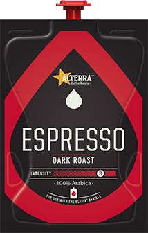 The Barista Espresso / Coffee Brewer is professional grade at it's best!  Get the best coffee house variety & excellence in one system with the Barista who's always ready for work. - ALTERRA Espresso Freshpacks - A201