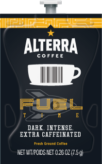 Alterra Coffees for Flavia Creation Drinks Station by Mars  €  Coffee lovers paradise of variety, easy use, & no coffee mess!  Experience all the benefits of coffee without the hassles with our full selection of Alterra Coffees filterpacks. - Fuel Time Coffee - A208