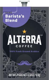 Alterra Coffees for Flavia Creation Drinks Station by Mars  €  Coffee lovers paradise of variety, easy use, & no coffee mess!  Experience all the benefits of coffee without the hassles with our full selection of Alterra Coffees filterpacks. - Barista's Blend - A197