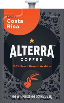 Alterra Coffees for Flavia Creation Drinks Station by Mars – Coffee lovers paradise of variety, easy use, & no coffee mess!  Experience all the benefits of coffee without the hassles with our full selection of Alterra Coffees filterpacks. - Costa Rica - A188
