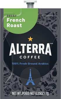 Alterra Coffees for Flavia Creation Drinks Station by Mars – Coffee lovers paradise of variety, easy use, & no coffee mess!  Experience all the benefits of coffee without the hassles with our full selection of Alterra Coffees filterpacks. - DECAF - French Roast - A189