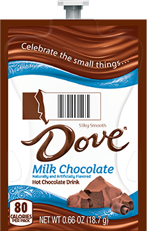 Cappuccinos, Mochaccinos & Hot Chocolate for the Mars Flavia Drink Station or Creation 500 Coffee Brewer.  Our wide selection keeps the variety coming for those many coffee lovers you want to please! - Dove Milk Hot Chocolate - A117