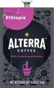 Alterra Coffees for Flavia Creation Drinks Station by Mars  €  Coffee lovers paradise of variety, easy use, & no coffee mess!  Experience all the benefits of coffee without the hassles with our full selection of Alterra Coffees filterpacks. - Ethiopia - A191