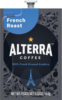 Alterra Coffees for Flavia Creation Drinks Station by Mars – Coffee lovers paradise of variety, easy use, & no coffee mess!  Experience all the benefits of coffee without the hassles with our full selection of Alterra Coffees filterpacks. - French Roast - A184
