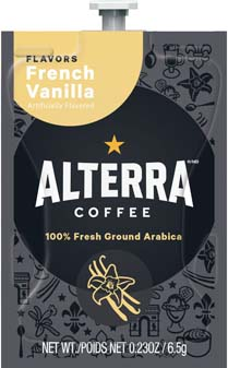 Alterra Coffees for Flavia Creation Drinks Station by Mars  €  Coffee lovers paradise of variety, easy use, & no coffee mess!  Experience all the benefits of coffee without the hassles with our full selection of Alterra Coffees filterpacks. - French Vanilla - A183