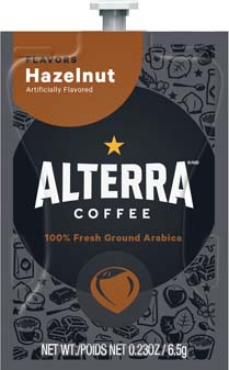 Alterra Coffees for Flavia Creation Drinks Station by Mars  €  Coffee lovers paradise of variety, easy use, & no coffee mess!  Experience all the benefits of coffee without the hassles with our full selection of Alterra Coffees filterpacks. - Hazelnut - A185