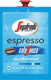 The Barista Espresso / Coffee Brewer is professional grade at it's best!  Get the best coffee house variety & excellence in one system with the Barista who's always ready for work. - * PAST DATE July 2018 *Segafredo® Espresso Café Sensa™ Decaf Freshpacks - S102
