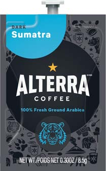 Alterra Coffees for Flavia Creation Drinks Station by Mars – Coffee lovers paradise of variety, easy use, & no coffee mess!  Experience all the benefits of coffee without the hassles with our full selection of Alterra Coffees filterpacks. - Sumatra - A194