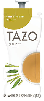 Bright Teas or Tazo Teas!  We have all the Flavia brewer tea filterpack options with same day shipping and huge discounts every day.  The Mars Drink Station is sure to satisfy the coffee & tea snobs you love! - TAZO Zen Green Tea - TZ01
